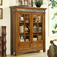 Craftsman Home - Door Bookcase - Americana Oak Finish Product Image