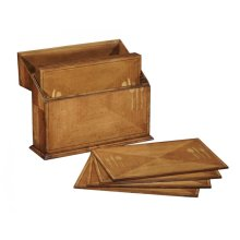 Rectangular Satinwood & Cutlery Inlay Placemat Box
