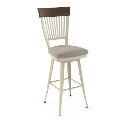 Annabelle Swivel Stool (distressed Wood)