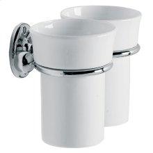 Edwardian double china mug and holder