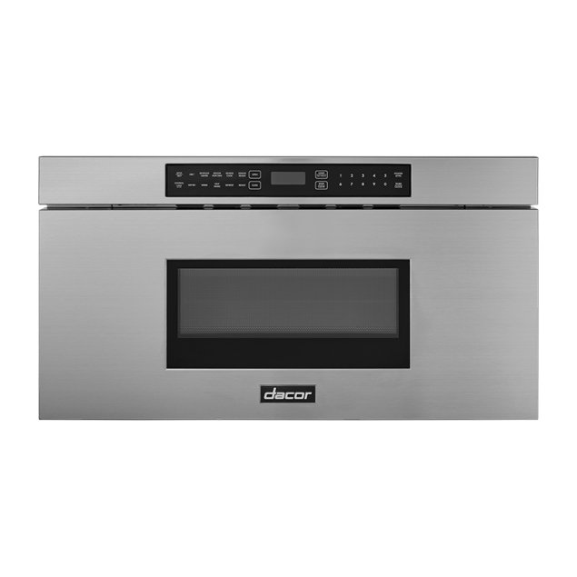 """Dacor 30"""" Microwave-In-A-Drawer, Silver Stainless Steel"""