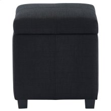 Juno Square Storage Ottoman in Black