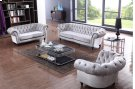 Divani Casa Alexandrina Grey Tufted Fabric Sofa Set Product Image