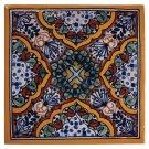 "4"" Apricot Decorative Talavera Tiles Product Image"