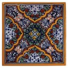 "6"" Apricot Decorative Talavera Tiles Product Image"