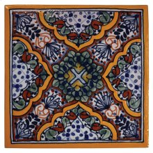 "4"" Apricot Decorative Talavera Tiles"