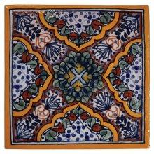 "4"" Apricot Decorative Talavera Tiles"