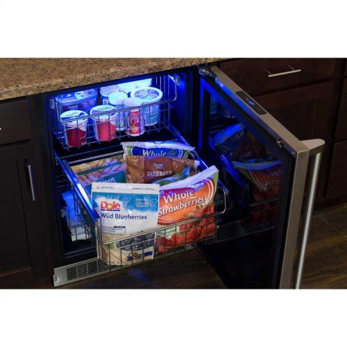 """24"""" Professional Freezer - Panel-Ready Solid Overlay Door with Lock - Integrated Left Hinge (handle not included)*"""