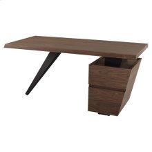 Styx desk  walnut veneer / black