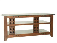 Cherry Video Stand Contemporary design and solid construction come together to create strength and beauty