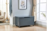 6610 Gray Storage Bench Product Image