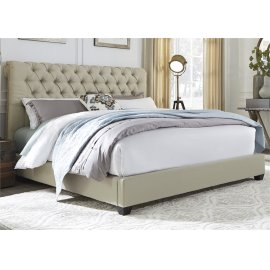 King Chesterfield Sleigh Bed