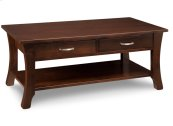 Yorkshire Coffee Table with Shelf and 2 Drawers