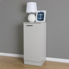 Narrow Storage Cabinet - Soft Gray