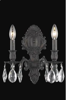 8602 Monarch Collection Wall Sconce Dark Bronze Finish