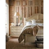 European Cottage-Panel Bed-Queen in Vintage White