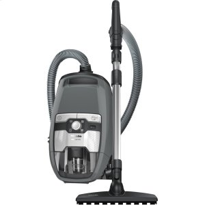 MieleBagless canister vacuum cleaners With high suction power and telescopic tube for thorough, convenient vacuuming.