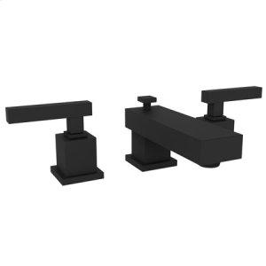 Flat Black Widespread Lavatory Faucet