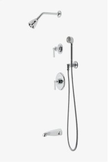 """Transit Pressure Balance Shower Package with 2 3/4"""" Head, Handshower, Tub Spout and Diverter Lever Handle STYLE: TRSP16"""