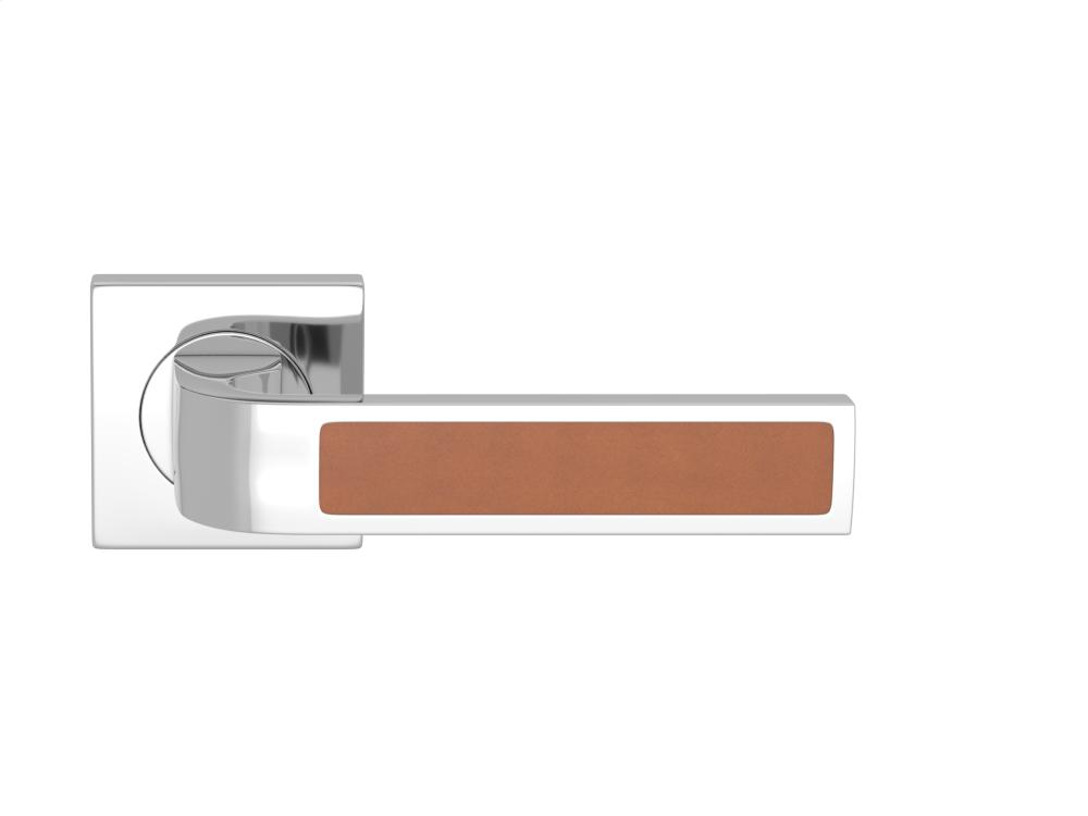 Ski Recess Leather In Tan And Bright Chrome