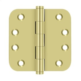 "4"" x 4"" x 5/8"" Radius Hinges Residential - Polished Brass"