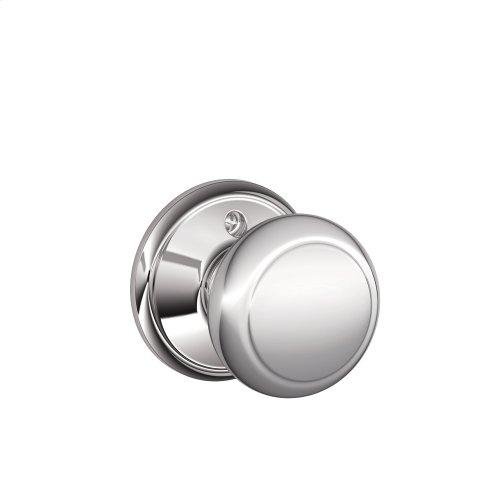 Andover Knob Non-turning Lock - Bright Chrome