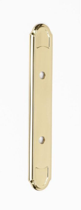 Classic Traditional Backplate A1568-3 - Polished Brass
