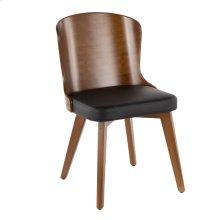 Bocello Chair - Walnut Bamboo, Black Pu