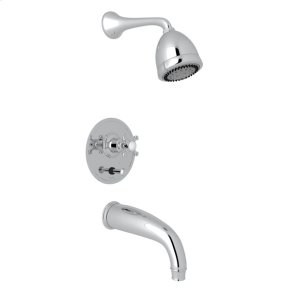 Polished Chrome GEORGIAN ERA U.KIT660LS PRESSURE BALANCE SHOWER PACKAGE with Georgian Era Cross Handle