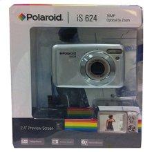 Polaroid 16 MP Digital Camera - Silver, IS624
