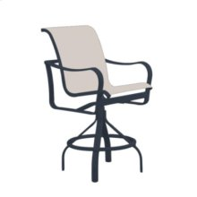 Shoreline Sling Swivel Bar Stool