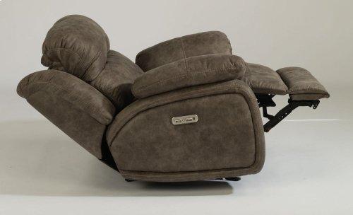 Como Fabric Power Gliding Recliner with Power Headrest