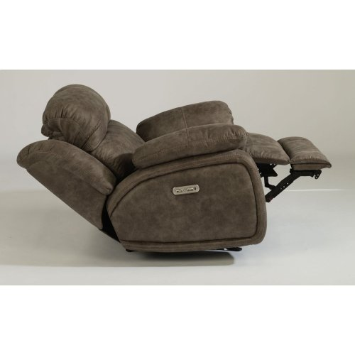 Como Fabric Power Gliding Recliner with Power Headrest