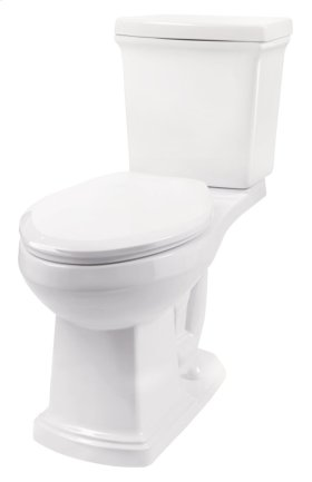 """White Hinsdale 1.28 Gpf 12"""" Rough-in Two-piece Elongated Ergoheight Toilet"""