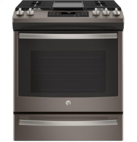 """GE® 30"""" Slide-In Front Control Convection Gas Range"""