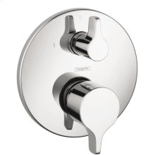 Chrome Pressure Balance Trim S/E with Diverter