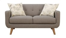 Loveseat Brown W/2 Accent Pillows