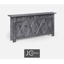 Antique Dark Grey Narrow Sideboard