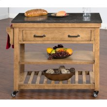 Blue Moon Kitchen Island Table With Bluestone Top