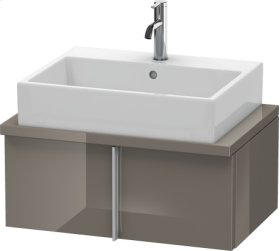 Vero Vanity Unit For Console Compact, Flannel Grey High Gloss Lacquer
