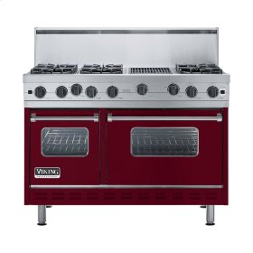 "Burgundy 48"" Open Burner Range - VGIC (48"" wide, six burners 12"" wide char-grill)"