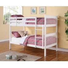 Chapman Transitional White Twin-over-twin Bunk Bed