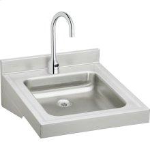 "Elkay Sturdibilt Stainless Steel 19"" x 23"" x 4"", Wall Hung Single Bowl Lavatory Sink Kit"