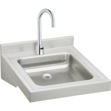 "Elkay Sturdibilt Stainless Steel 19"" x 23"" x 4"", Wall Hung Single Bowl Lavatory Sink Kit"