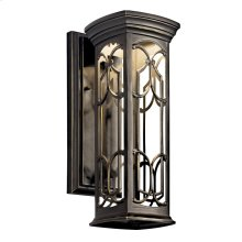 """Franceasi Collection Franceasi 14.5"""" Outdoor Wall LED in Olde Bronze"""