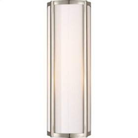 Visual Comfort AH2023PN-WG Alexa Hampton Basil 1 Light 6 inch Polished Nickel Bath Wall Light