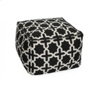 Cross Pattern Pouf Product Image