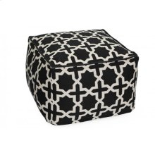 Cross Pattern Pouf