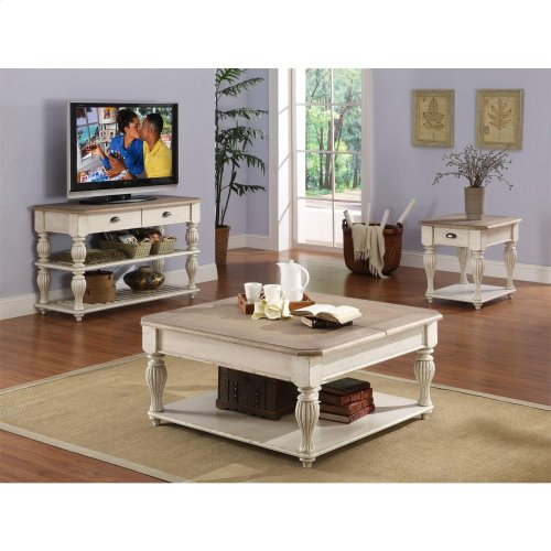 Coventry Two Tone - Lift Top Square Coffee - Weathered Driftwood/dover White Finish