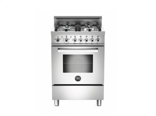 24 inch 4-Burner, Gas Oven Stainless